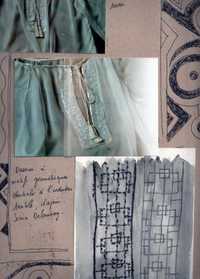 Etude croquis et toile d'après Delaunay