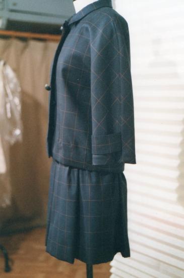 Tailleur-robe, lainage de chez Dormeuil (Paris)