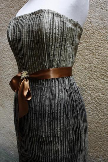 robe du soir plissée