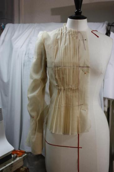 prototype blouse plissée