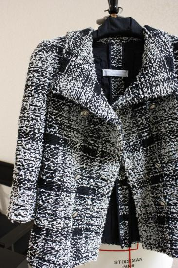 Veste en tweed rebrodé