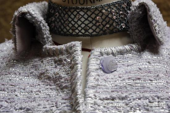 DETAIL COL VESTE TWEED
