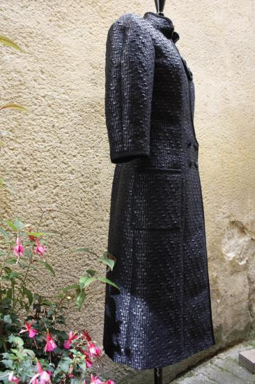 Manteau tweed tissé main (MALHIA, Paris)