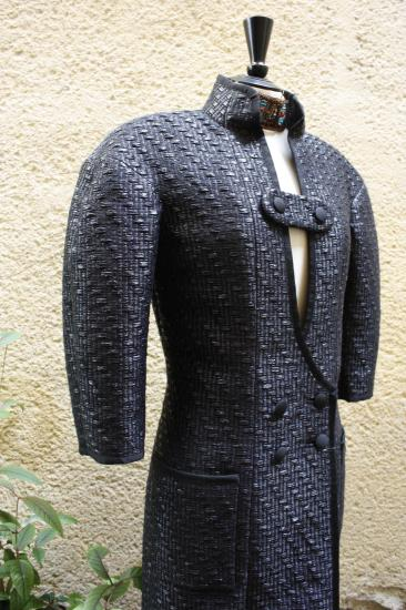 Détail manteau tweed