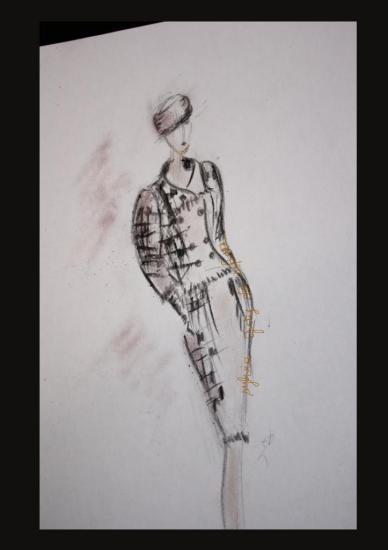 croquis tailleur tweed