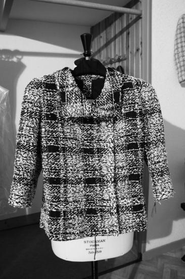 Petite veste tweed effiloché